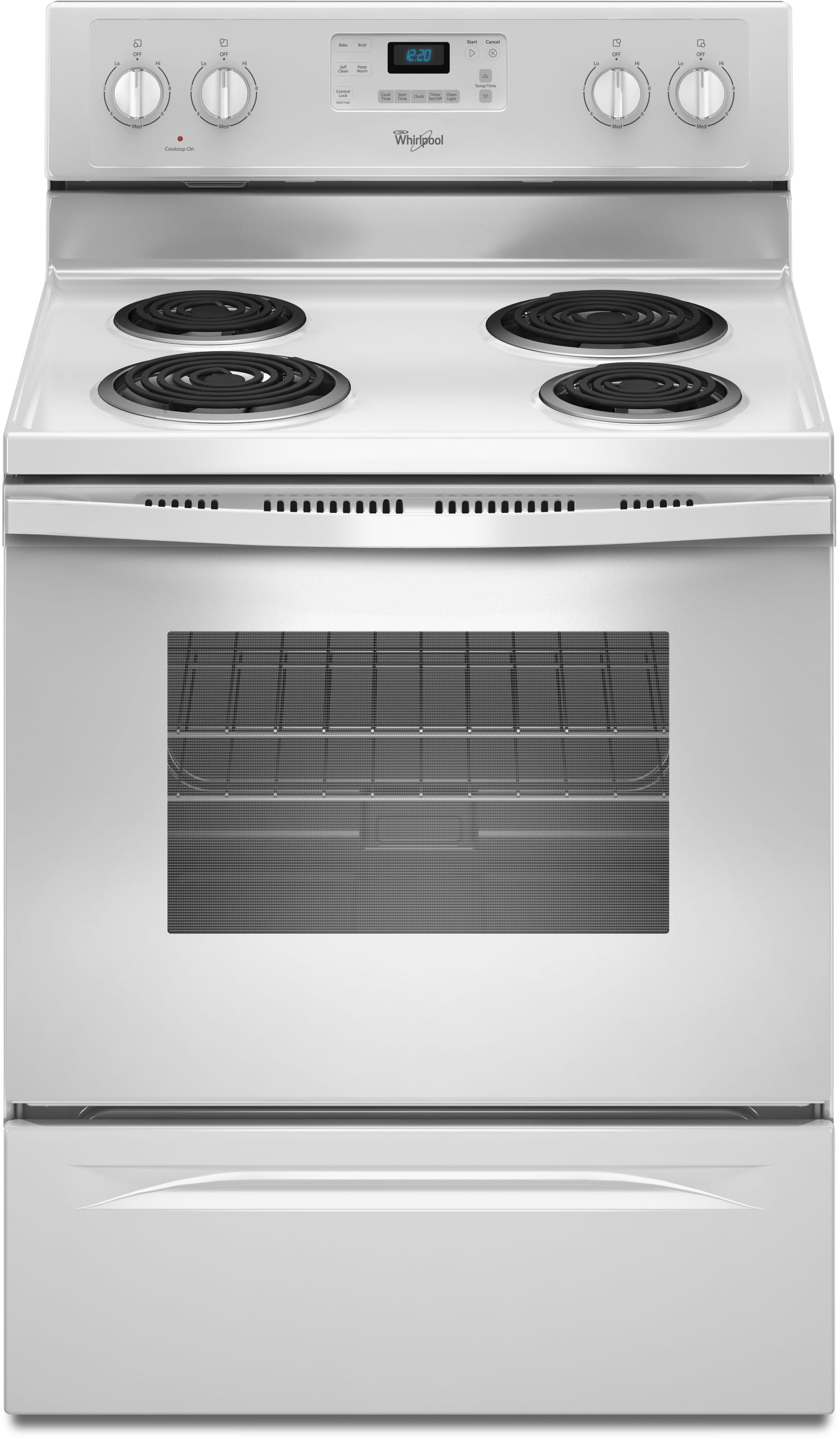 Whirlpool Wfc310s0ew 30 Inch Freestanding Electric Range