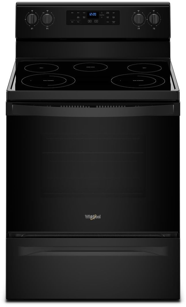 whirlpool wfe525s0hb 30 inch freestanding electric range with frozen bake technology flexheat. Black Bedroom Furniture Sets. Home Design Ideas