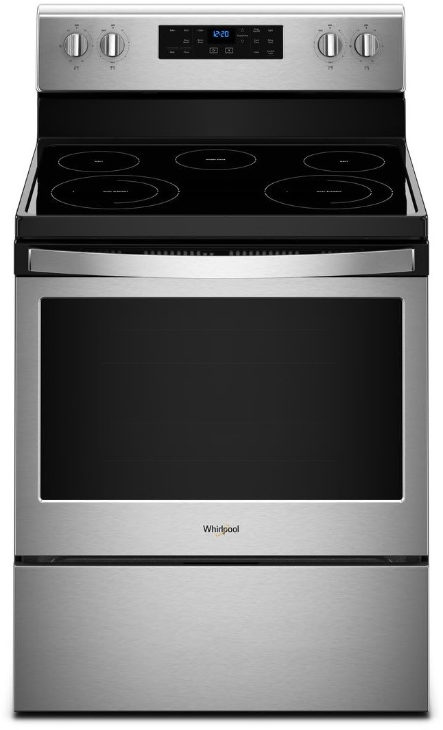 whirlpool wfe525s0hs 30 inch freestanding electric range with frozen bake technology flexheat. Black Bedroom Furniture Sets. Home Design Ideas