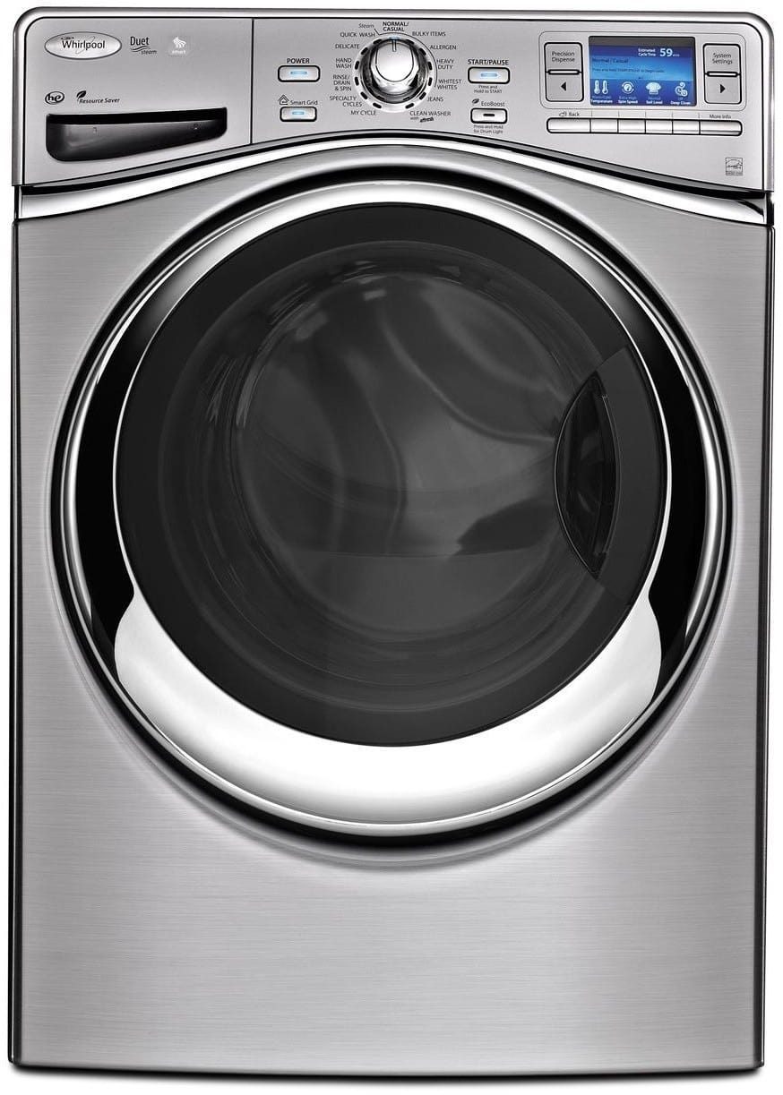 whirlpool wfl98hebu 27 inch 4 3 cu ft front load washer with 13 wash cycles 1 400 rpm steam. Black Bedroom Furniture Sets. Home Design Ideas