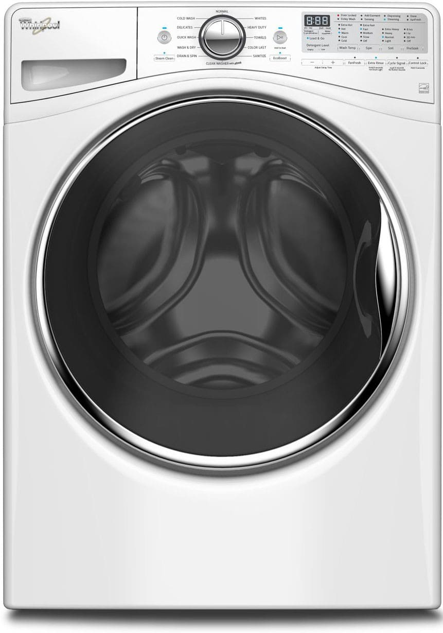 whirlpool wfw92hefw 27 inch 4 5 cu ft front load washer with load go adaptive wash steam. Black Bedroom Furniture Sets. Home Design Ideas