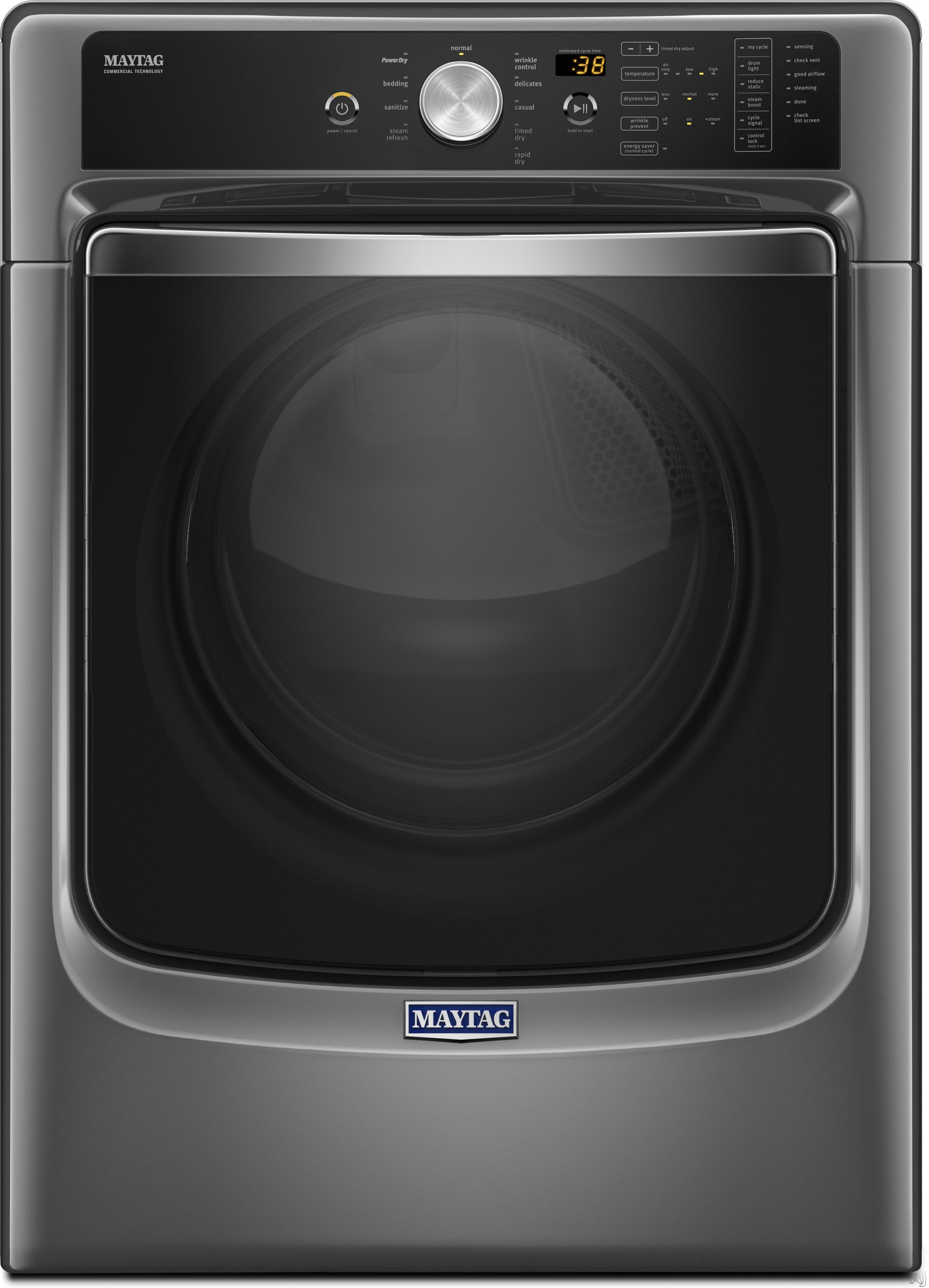 Maytag med8200fc 27 inch 7 4 cu ft electric dryer with - Maytag whirlpool ...