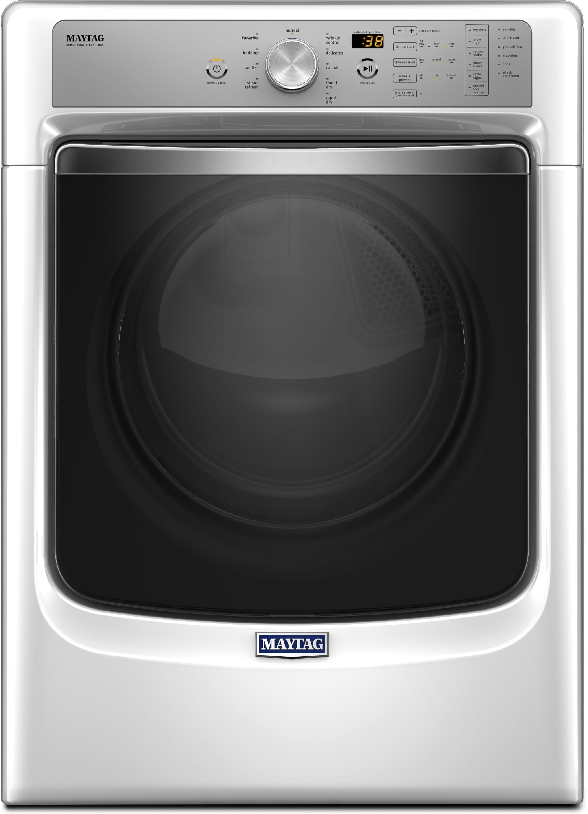Maytag Mgd8200fw 27 Inch 7 4 Cu Ft Gas Dryer With Steam