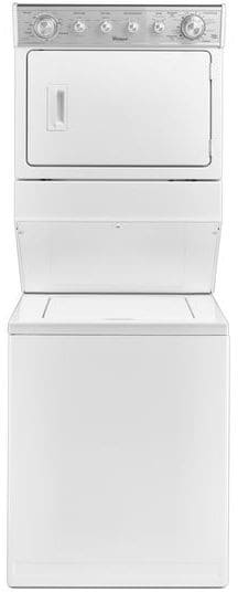Whirlpool Wetlv27fw 27 Inch Electric Laundry Center With 2