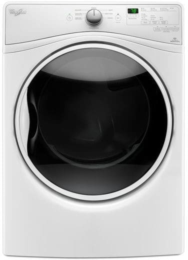 Whirlpool WGD85HEFW 27 Inch 7.4 cu. ft. Gas Dryer with Sensor Dry ...