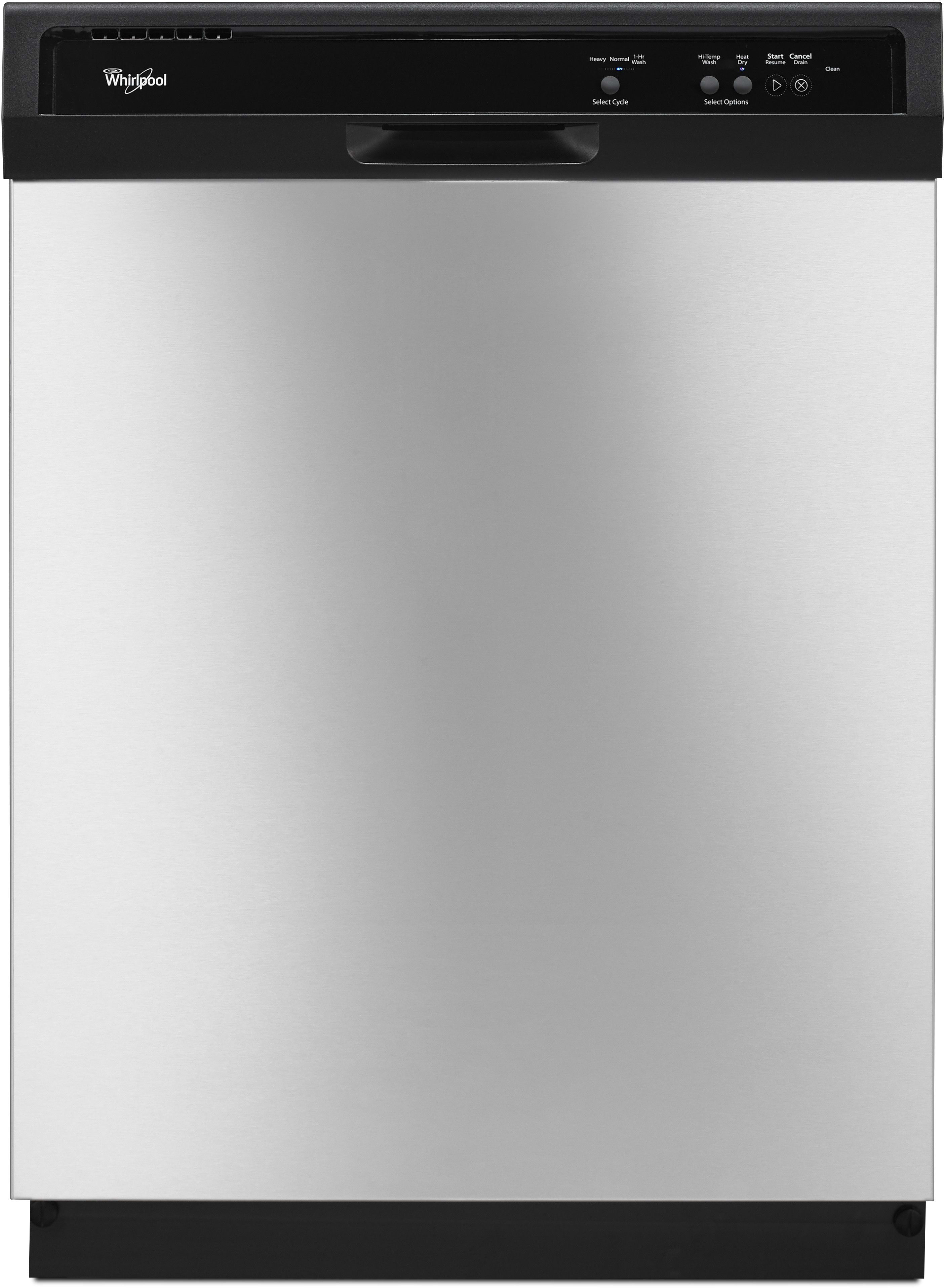 whirlpool wdf120pafs full console dishwasher 12 place setting whirlpool wdf120pafs full console dishwasher 12 place setting capacity 1 hour wash heavy wash heated dry option high temperature wash option and