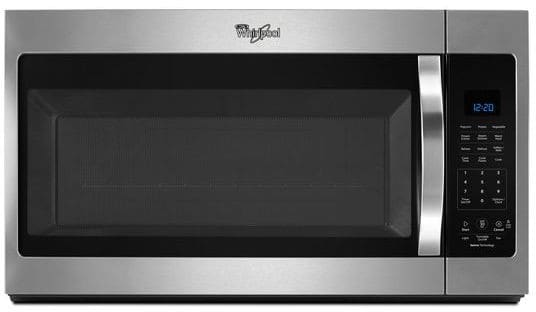 Whirlpool Wmh32519fs 1 9 Cu Ft Over The Range Microwave With Sensor Cooking 300 Fan Cfm