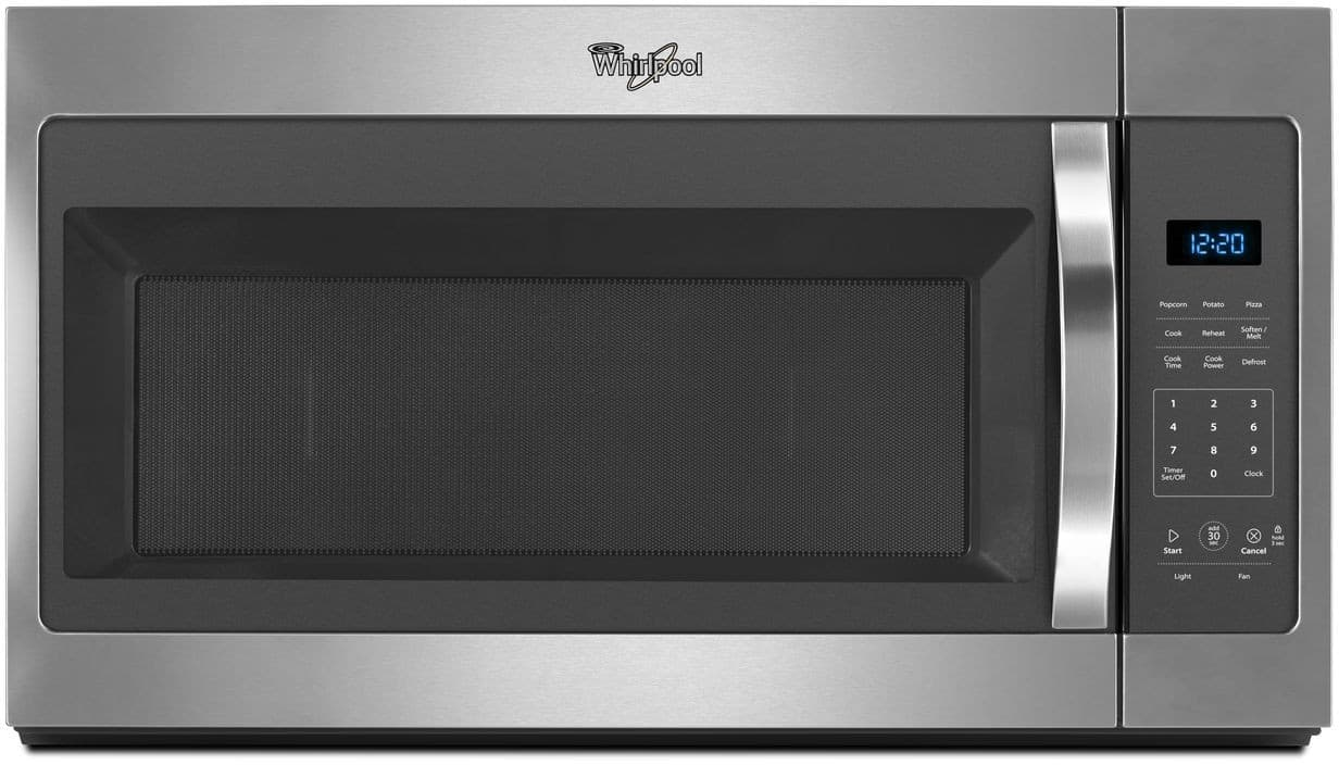 Whirlpool Wmh31017fs 1 7 Cu Ft Over The Range Microwave Oven With Presets 2 Sds Electronic Touch Controls