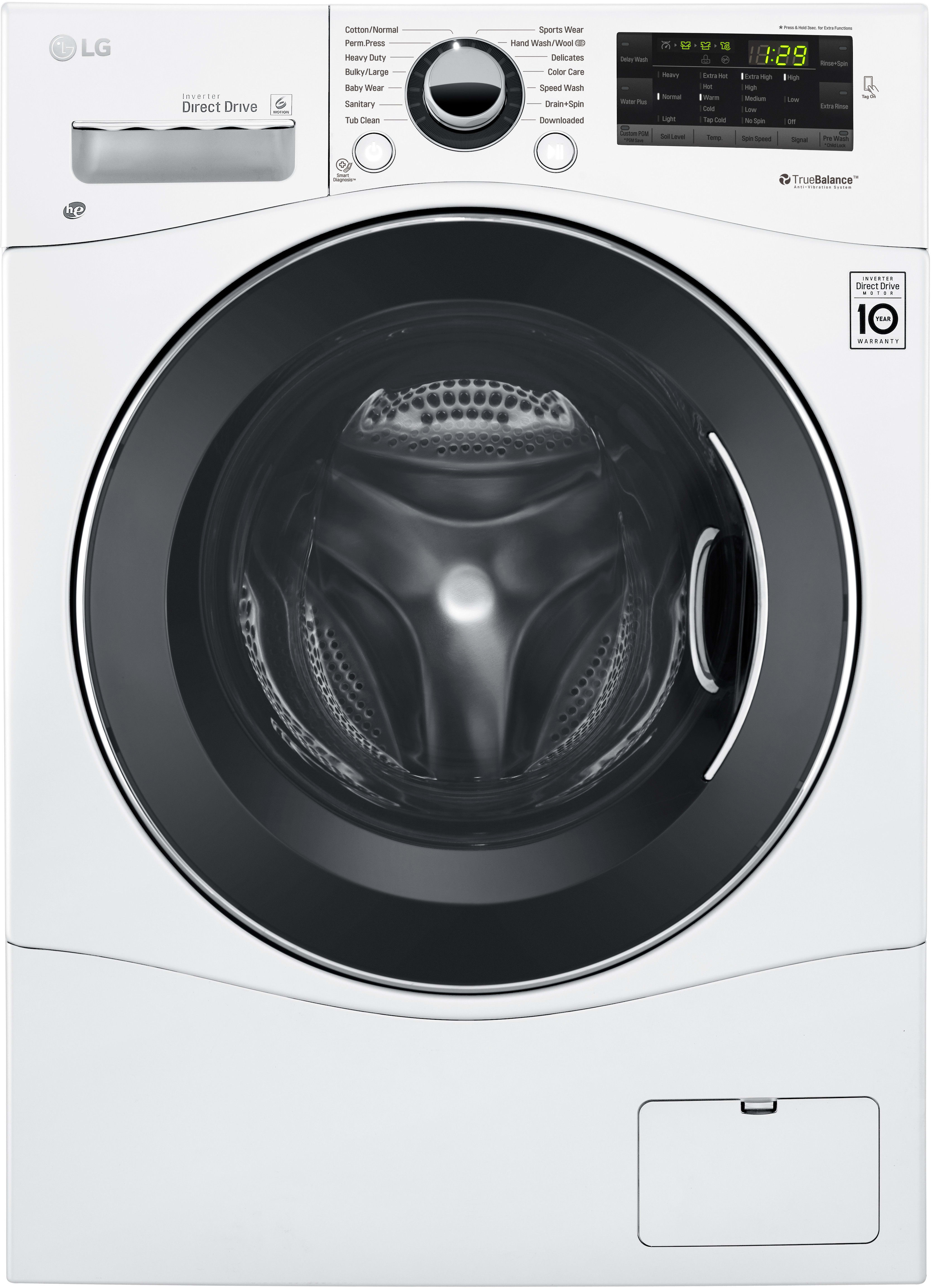 lg wm1388hw 24 inch front load washer with speed wash