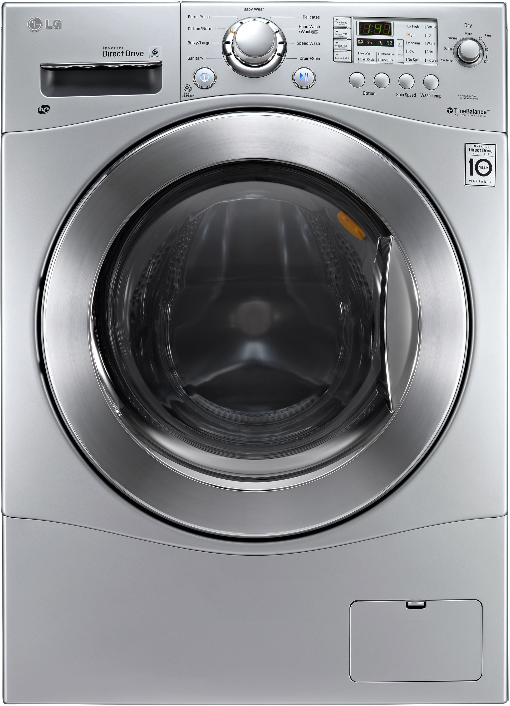 Lg Wm3477hs 24 Inch 2 3 Cu Ft Electric Washer Dryer