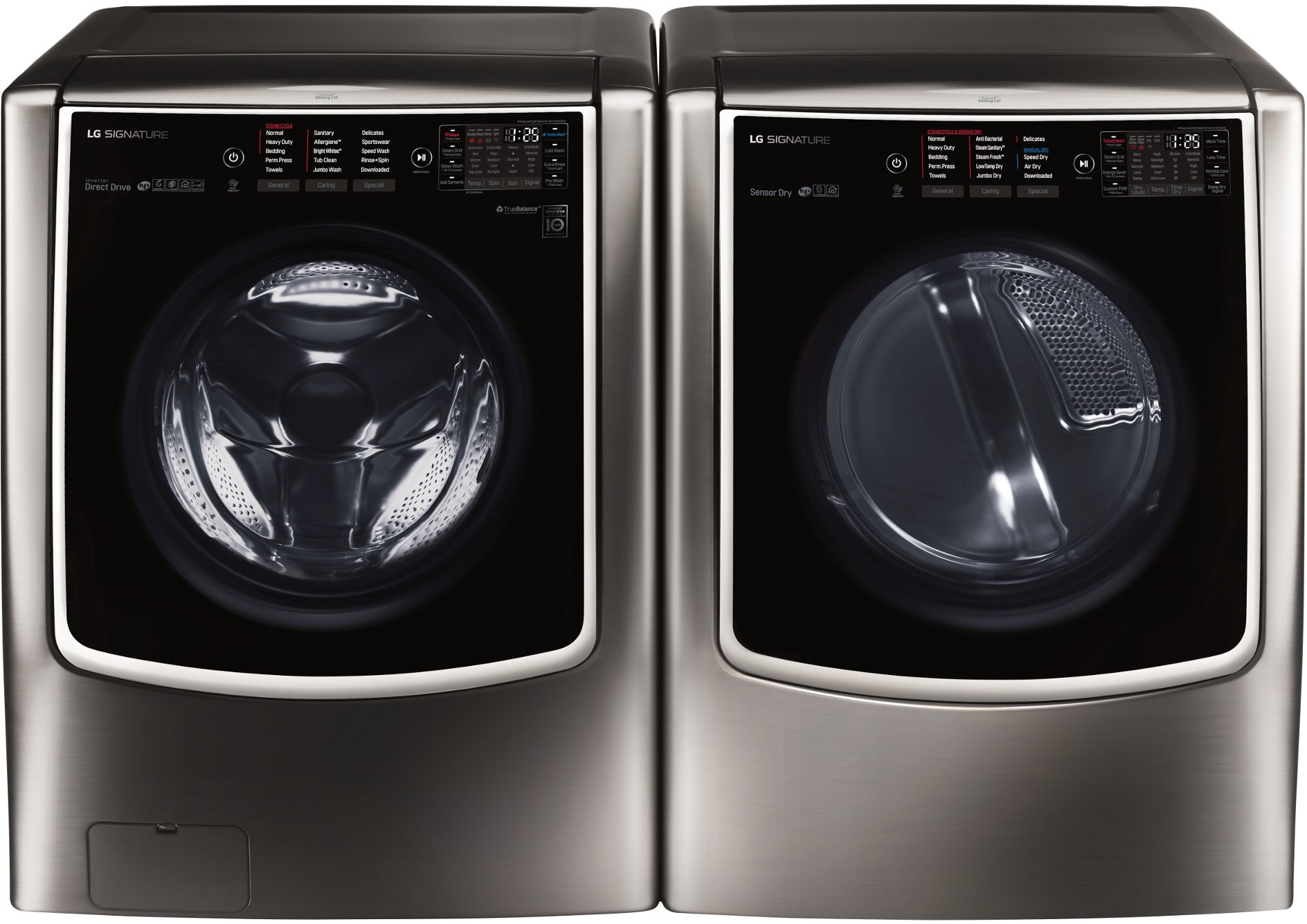 Lg Lgwadrgbs96 Side By Side Washer Amp Dryer Set With Front