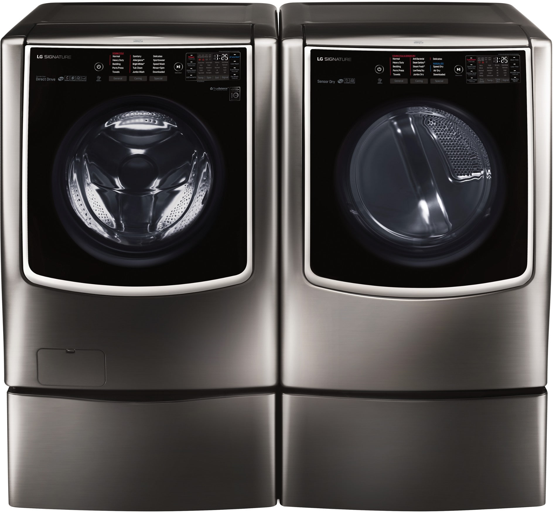 Lg Lgwadrgbs97 Side By Side On Pedestals Washer Amp Dryer