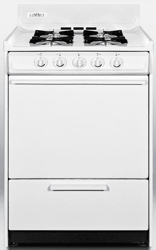 Summit WNM610P 24 Inch Freestanding Gas Range with 4 Open Burners ...