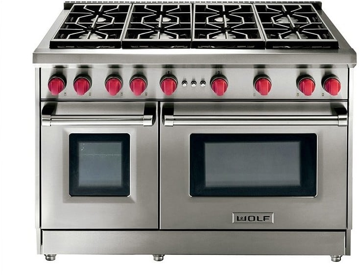 Wolf Gr488 48 Inch Pro Style Gas Range With 4 4 Cu Ft