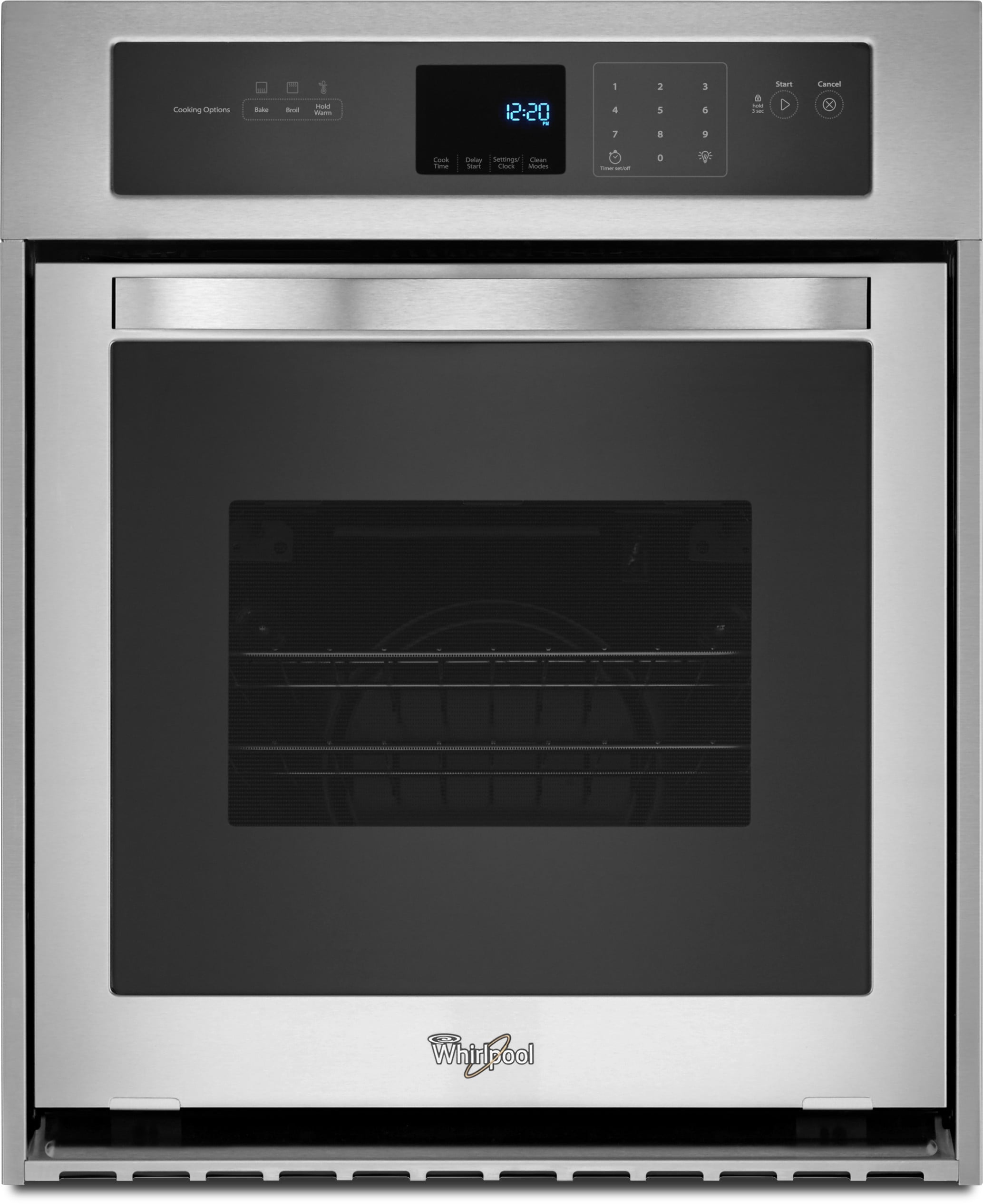 Whirlpool white ice double wall oven - Whirlpool Wos51es4es 24 Inch Single Electric Wall Oven With 3 1 Cu Ft Capacity 3600 Watt Broil Element High Heat Self Cleaning Mode Delay Cook Setting