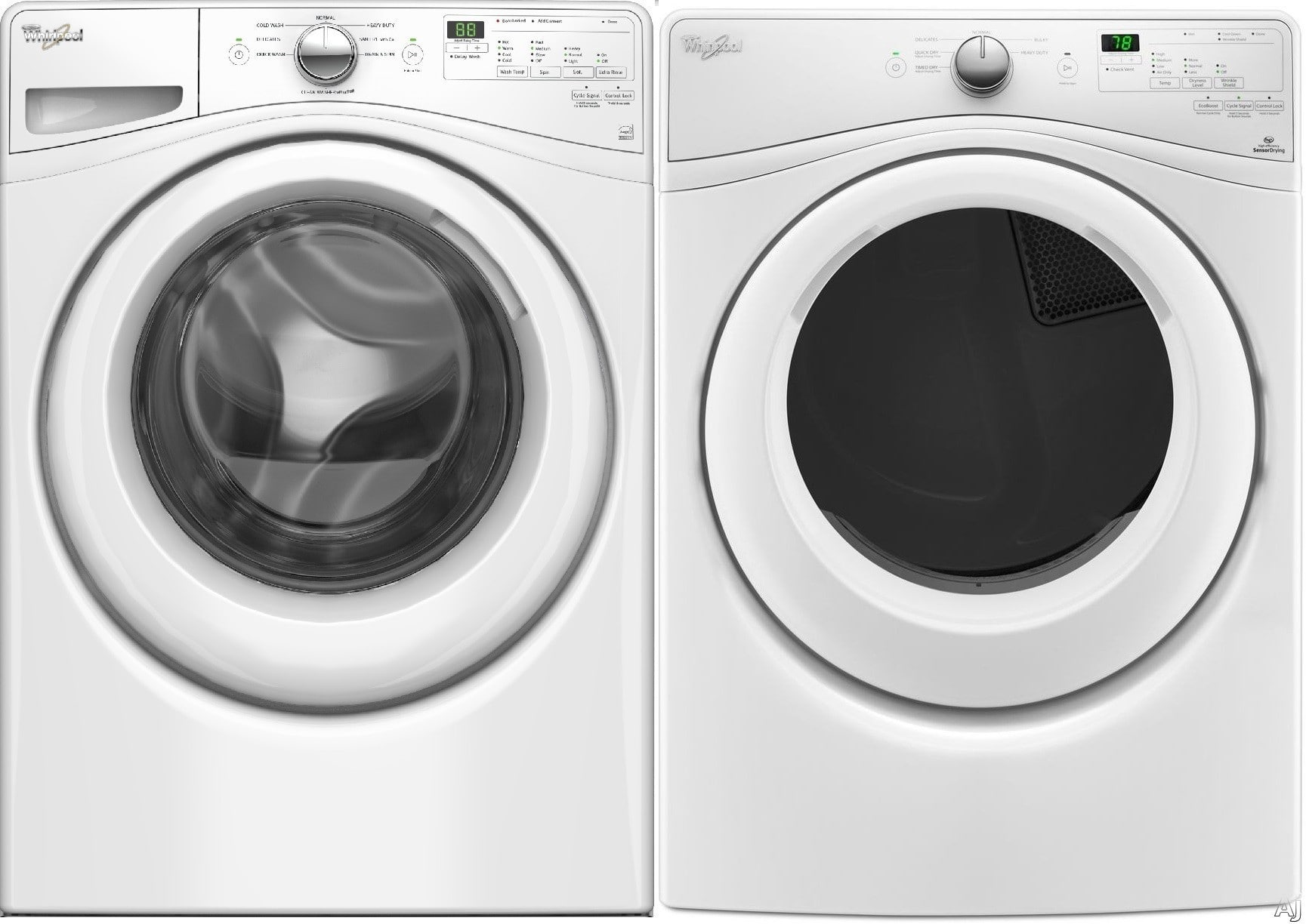 Whirlpool Wpwadrew575 Side By Side Washer Amp Dryer Set With