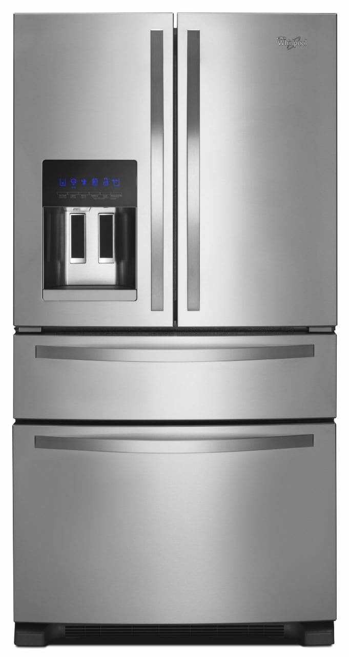 Whirlpool WRX735SDBM 36 Inch 4 Door French Door Refrigerator With External  Refrigerated Drawer, Filtered Dispenser, Measured Fill, Adjustable Glass  Shelving ...