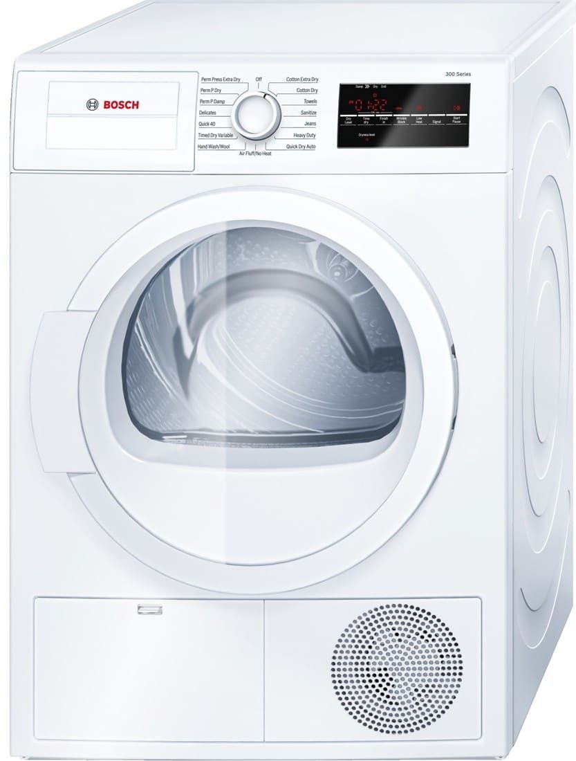 bosch wtg86400uc 24 inch electric dryer with automatic dry. Black Bedroom Furniture Sets. Home Design Ideas