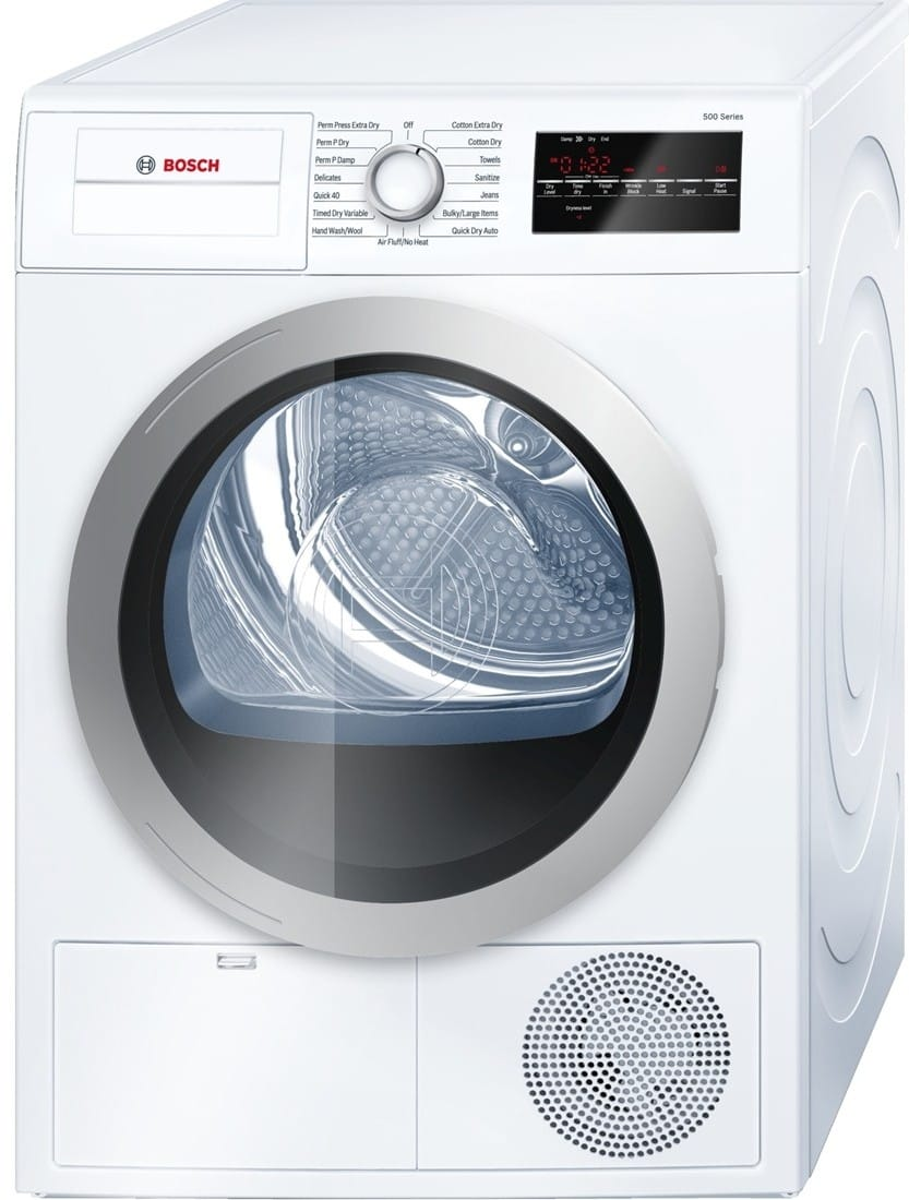 Washing Drying Machine Bosch Wtg86401uc 24 Inch Ventless Electric Dryer With Double Lint