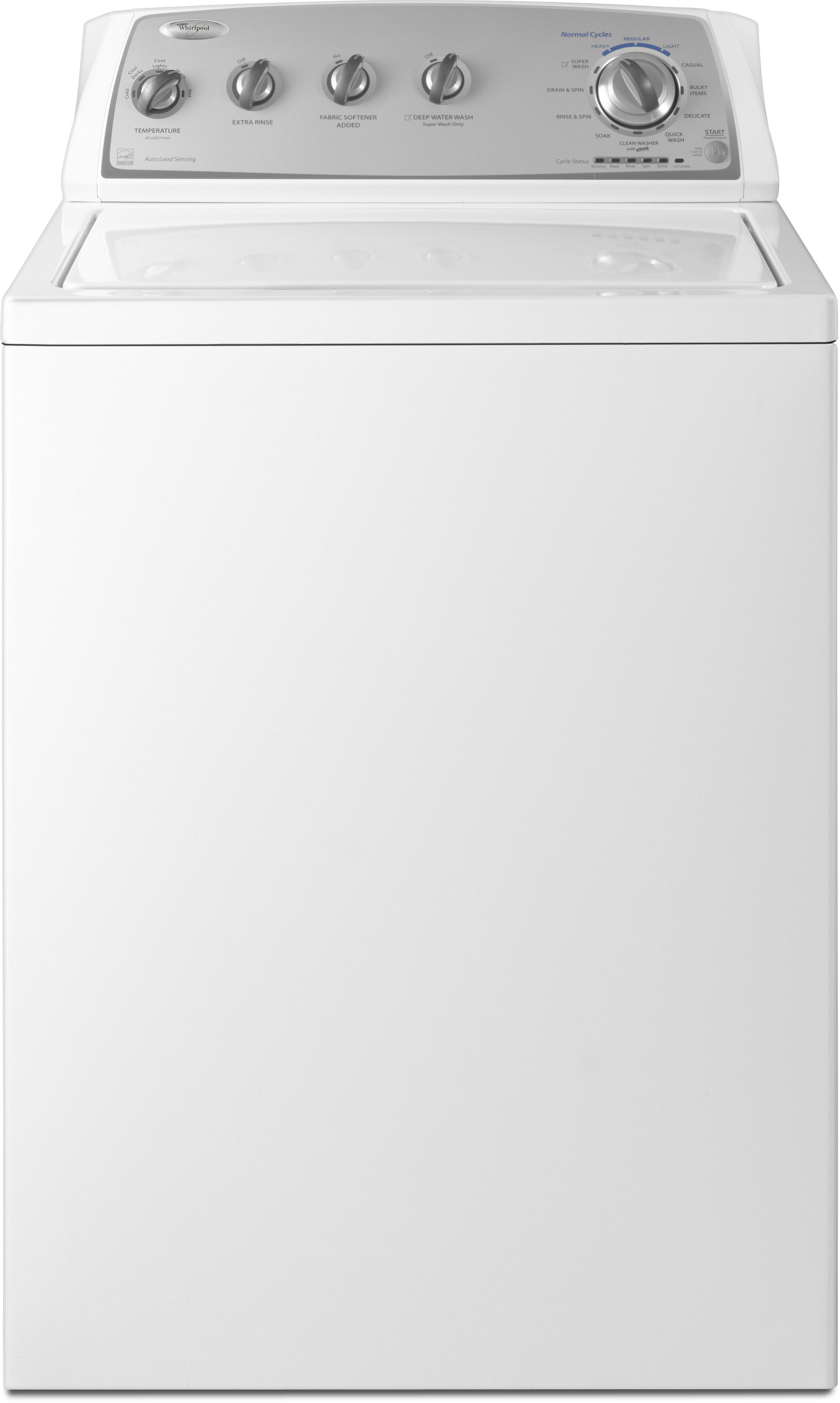 Whirlpool Wtw4880aw 27 Inch Top Load Washer With 34 Cu Ft Wiring Diagram Wtw5200vq2 Capacity 12 Wash Cycles 5 Water Temperatures 700 Rpm Spin Speed And Soak Setting
