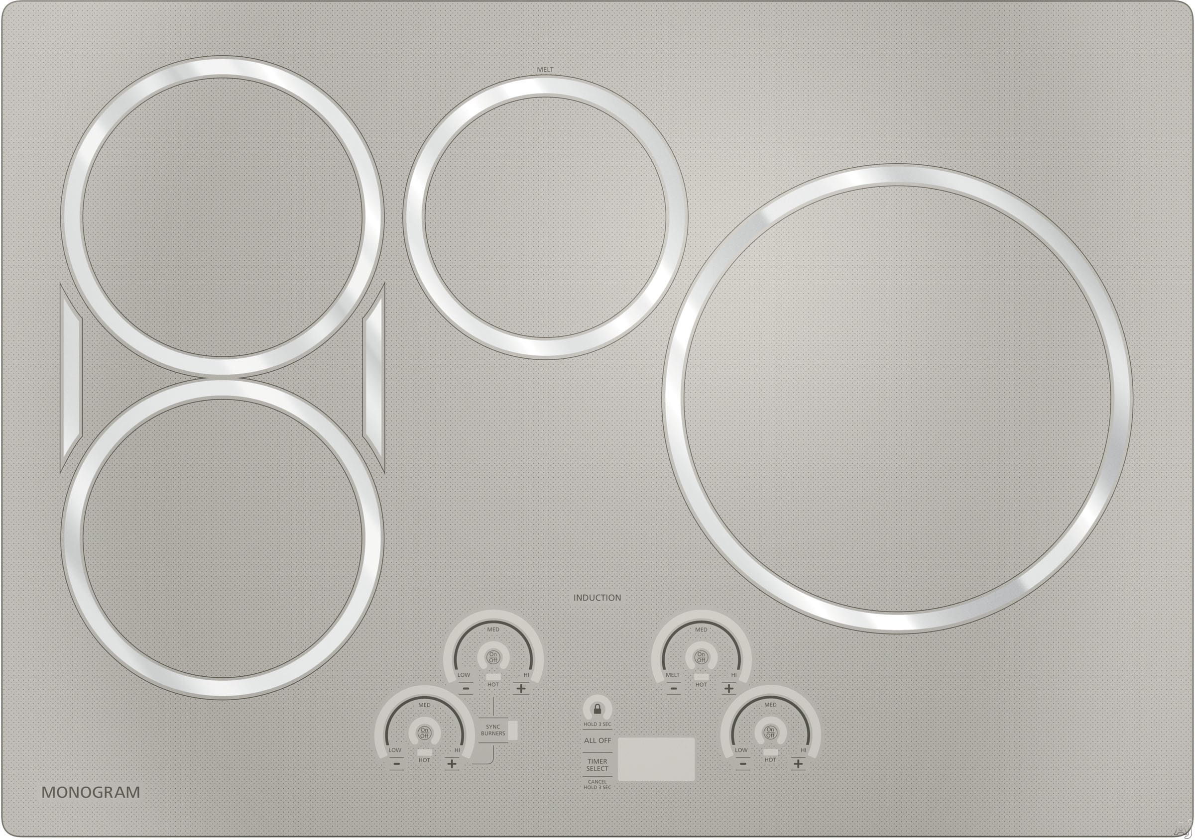 Monogram Zhu30rsjss 30 Inch Induction Cooktop With 4