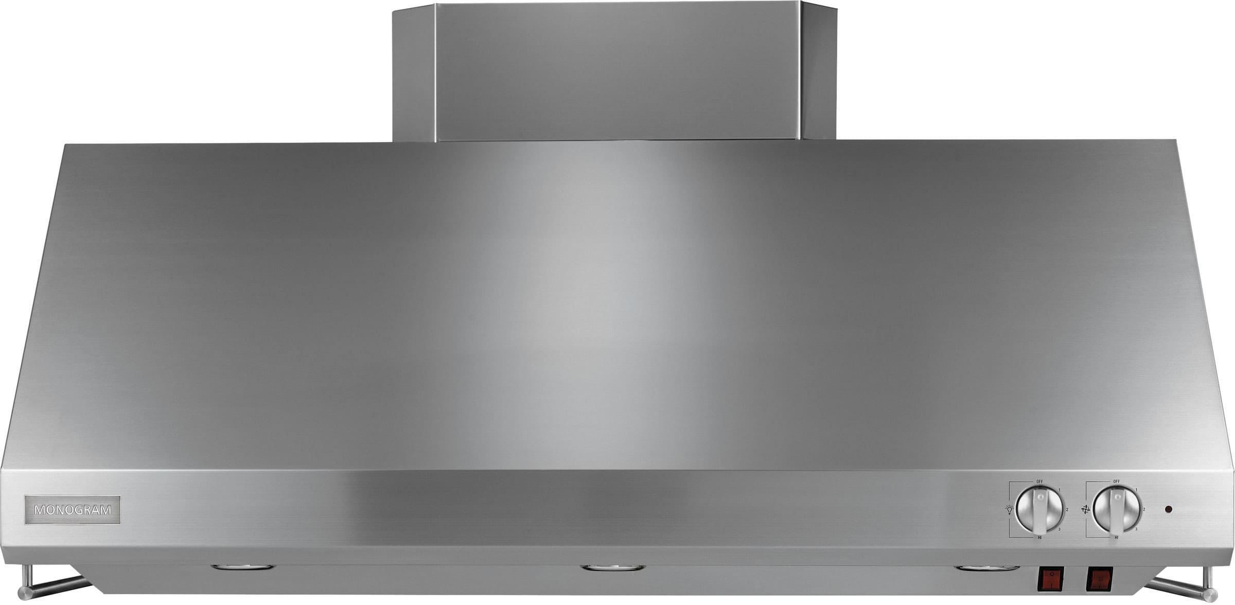 monogram zv48ssjss 48 inch professional wall mount hood with 940 cfm vertical exhaust  4