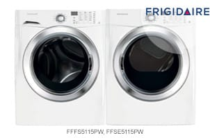 Frigidaire White Front-Load Washer and Dryer Pair