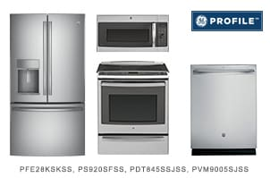 GE Profile Series 4-Piece Kitchen Appliance Package