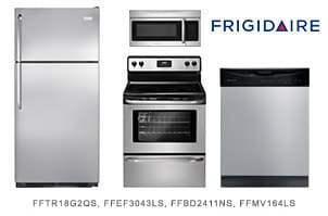 Frigidaire Top Mount 4-Piece Kitchen Appliance Package
