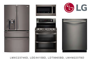 LG 4-Piece Black Stainless Steel Appliance Package