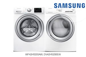 Samsung White Front-Load Washer + Dryer Pair