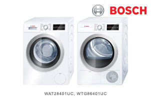 Bosch 500 Series Ventless Laundry Package
