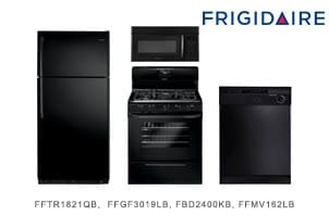 Frigidaire Top Mount Black Kitchen Appliance Package