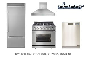 Dacor Stainless 4-Piece Kitchen Appliance Package