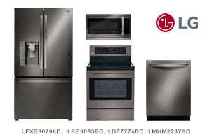 LG Black Stainless Steel 4-Piece Appliance Kitchen Package