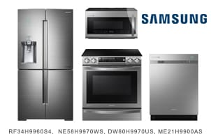 Samsung Stainless Steel Chef Collection Kitchen Appliance Package