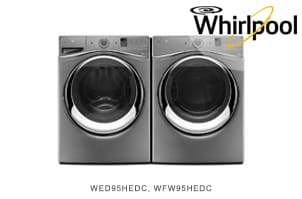 Whirlpool Duet Series Chrome Shadow Laundry Pair