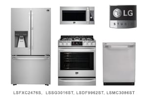 LG Studio 4-Piece Stainless Steel Kitchen Appliance Package
