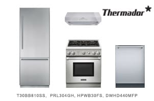 Thermador 4-Piece Stainless Steel Kitchen Appliance Package