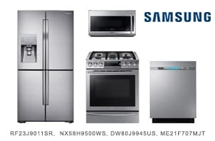 Samsung 4-Piece Stainless Steel Kitchen Appliance Package