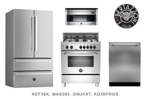 Bertazzoni 4-Piece Stainless Steel Kitchen Package