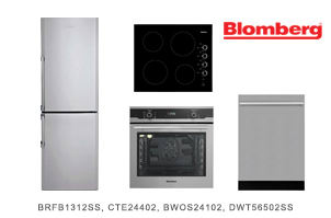 Blomberg 4-Piece Stainless Steel Kitchen Appliance Package