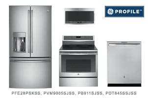 GE Profile Series Kitchen Appliance Package