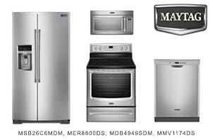 Maytag 4-Piece Stainless Steel Kitchen Appliance Package
