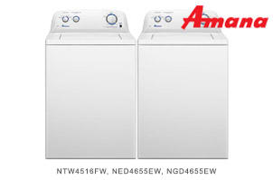 Amana White Top Load Laundry Pair