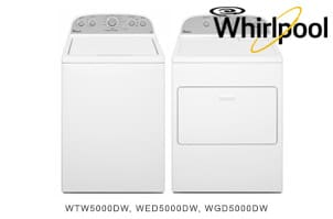 Whirlpool White Top-Load Laundry Pair