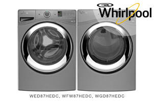 Whirlpool Chrome Shadow Front-Load Laundry Pair