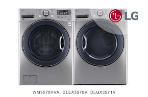 LG Graphite Steel Front-Load Laundry Pair