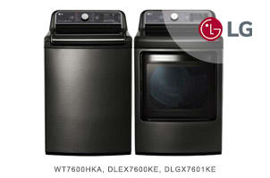 LG Black Stainless Steel Top Load Laundry Pair