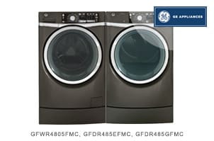 GE Metallic Carbon Front Load Laundry Package
